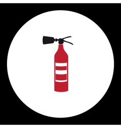 red fire extinguisher simple isolated icon eps10 vector image vector image