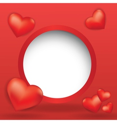 web design bubble with hearts vector image vector image