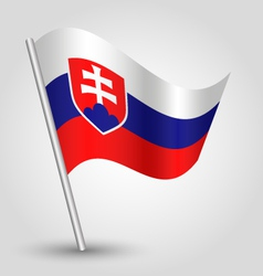 flag slovakia vector image vector image
