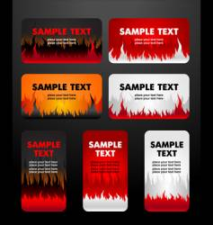 flaming business cards vector image vector image