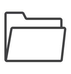 folder line icon web and mobile file sign vector image vector image