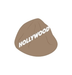 Hollywood sign icon isometric 3d style vector image vector image