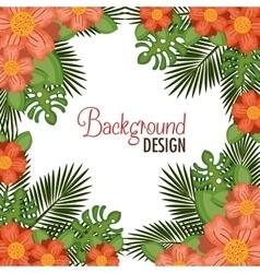Wreath floral decorative background vector