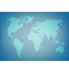 Blueeprint style world map package background vector image