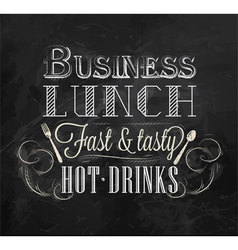 Business lunch chalk vector image