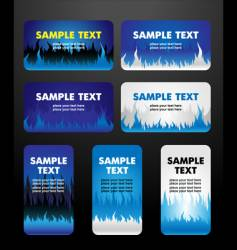 flame business cards vector image vector image