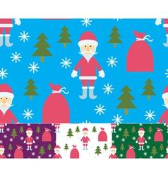 Seamless Santa Claus and gifts vector image
