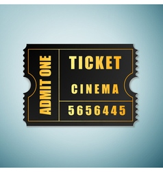 Cinema ticket icon isolated on blue background vector image vector image