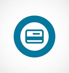credit card bold blue border circle icon vector image vector image