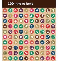 100 Arrows icons vector