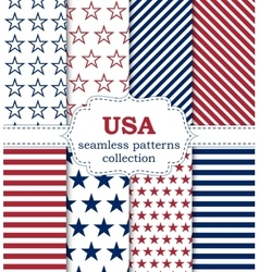 A set seamless patterns vector