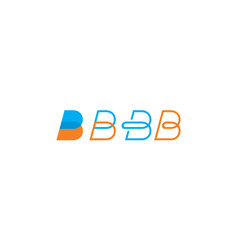 abstract initial b logo icon vector image