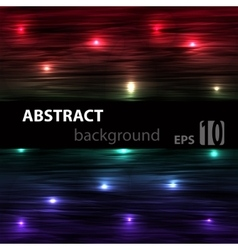 Abstract striped glowing horisontal background vector