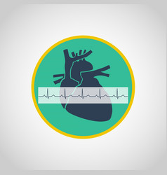 An electrocardiogram logo icon design vector