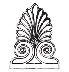 Antefix is a from parthenon vintage engraving vector