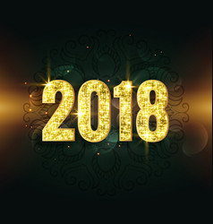 awesome 2018 text in glitter and sparkle style vector image