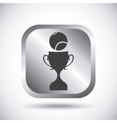 ball and trophy icon Tennis design vector image