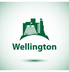 Beehive - the symbol of Wellington New Zeland vector
