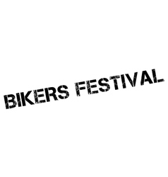 Bikers Festival rubber stamp vector