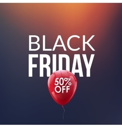 Black Friday Sale background Discount balloon 50 vector