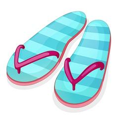 Blue stripe sandal vector