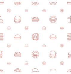 Burger icons pattern seamless white background vector