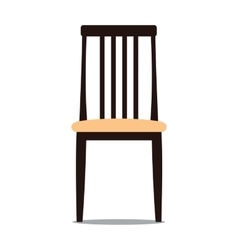 chair with backrest vector image