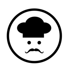 chef icon - iconic design vector image
