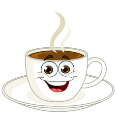 coffee cup cartoon vector image vector image