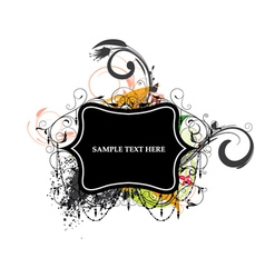 colorful grunge label vector image