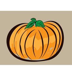 Colorful pumpkin vector image