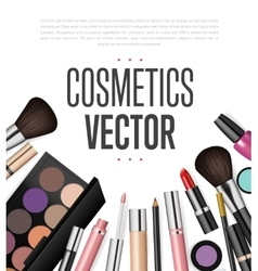 Cosmetic brand template Realistic packaging set vector
