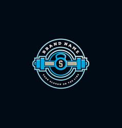 Creative fitness logo design vector
