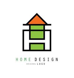 Creative logo for construction vector