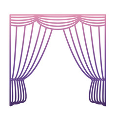 Curtains icon image vector