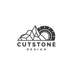 cutting stone logo design vector image