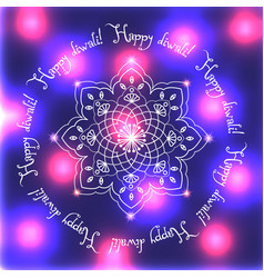 diwali the indian festival of lights greeting vector image