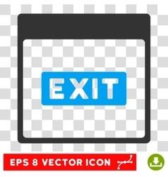 Exit Caption Calendar Page Eps Icon vector image