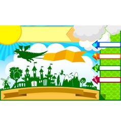 fairytale template vector image