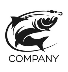 fish and fishing logo vector image