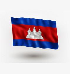 Flag cambodia vector