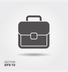 flat icon of briefcase with shadow logo vector image