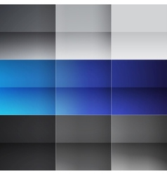 Gray and blue squares abstract background vector image