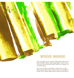 green yellow oil watercolor texture vector image