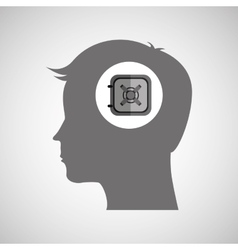 head thinking design vector image