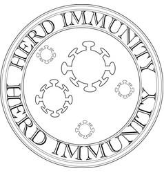 Herd immunity sign and logo vector