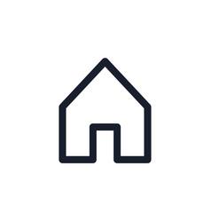 House black line icon popular media element home vector