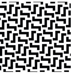 Irregular maze lines black and white vector