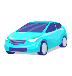 Isolated blue modern sports automobile vector