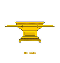 Laver set in tabernacle and temple vector